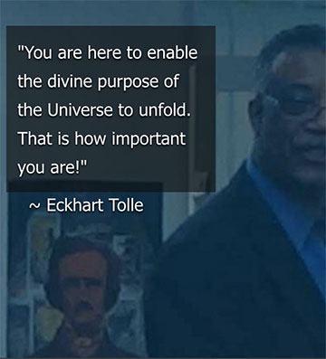 Muhammad Zahir quotes Eckhart Tolle